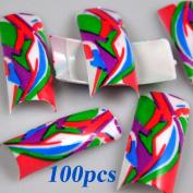 100 Artistic Design False French Nail Art Tips