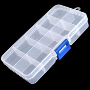 Clear Compartments False Nail Art Tips Storage Box Case