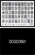 Gogoonly Nail Art Stamp Plate Collection St. Merry - Huge Size Stamping Image Plates Manicure Nail Designs DIY-BH000462