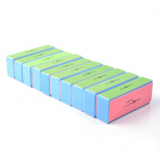 KLOUD City® 10 pcs 4 Way Colourful Nail Art Buffer Buffing Sanding Files Block Manicure Care DIY