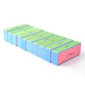 KLOUD City® 10 pcs 4 Way Colourful Nail Art Buffer Buffing Sanding Files Block Manicure Care DIY
