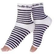 Pedi-Sox Striped, Black Stripe