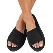 For Pro Non-Woven Spa Slipper, Black, 12 Count