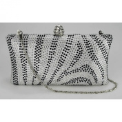 Womens Beautiful Sparkly Crystal Beaded Diamante Evening Party Clutch Bag