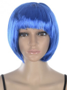 AMC(TM) Women's Coloured Cos-play Short Bob Hair Wig for Costume Party