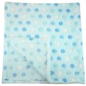 80cm x 80cm Plush Fleece Baby Blanket - Assorted Colours Polka Dot Blankets by bogo Brands