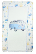 Blue VW Camper Van Baby Changing Mat - Blue Camper