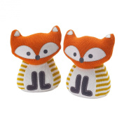 Lolli Living Bookend Friends, Fox Knit