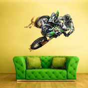 Full Colour Wall Decal Mural Sticker Decor Art Dirt Bike Moto Motorcycle Motocross Biker Dirty