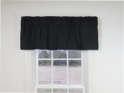 Straight Valance in Jet Black - Fully Lined with 7.6cm rod pocket