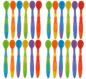Munchkin Soft-Tip Infant Spoon, - Assorted Colours - 24 Count