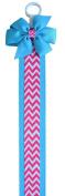 Funny Girl Designs Girls Chevron Print Hair Bow Holder - 0.9m Long!