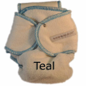 Sustainablebabyish Snapless Multi Fitted Cloth Nappies - Teal
