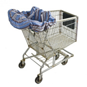 Wupzey Shopping Cart and Diner Seat Cover, Blue Stripe