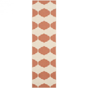 Safavieh Courtyard Collection CY6162-258 Beige and Navy Indoor/ Outdoor Area Runner, 0.6mes by 2.4m