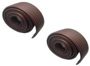 Viskey DIY Baby NBR Safety Protector Table Edge Softener 200cm *7.6cm Brown 2pcs