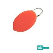 Plastic Squeeze Coin Holder, Orange
