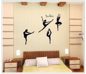 OneHouse Four Girls Perform Ballet DIY Wall Decal Super for Girls' Room Wall Decor