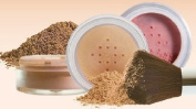 Sweet Face Minerals 4 Pc kit with Kabuki Mineral Makeup Set Bare Skin Sheer Powder Foundation Cover (Warm