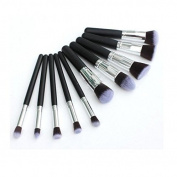 HOSL 10PCS Premium Synthetic Hair Makeup Brush Set Cosmetics Foundation Blending Blush Face Powder Brush Makeup Brush Kit