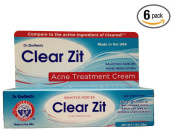 Dr. Sheffield's Clear Zit Maximum Strength 2% Salicylic Acid Acne Treatment Cream, 30ml (Pack of 6) New and Improved Formula (