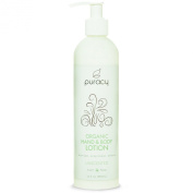 Puracy Organic Hand and Body Lotion, Unscented, 12 Fluid Ounce