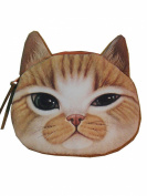 Enjoydeal Cute Lifelike Cat Face Bag Zipper Case Coin Money Purse Wallet Bag Pouch Handbag