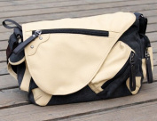 Zenness Men's Casual Bag Messenger Bag Canvas and Pu Leather for Ipad
