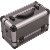 Hiker HK3101 3-Tier Professional Aluminium Case with Extendable Trays and Brush Holder, 38cm , Smooth Pattern, Gun Metal