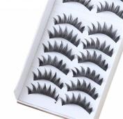 BTArtbox 10 Pair Long Black False Eyelashes Eye Lashes Makeup-008