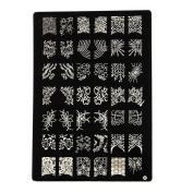 Shari X-Large Nail Art Polish Manicure Stamping Image Plate Template DIY Decorations O