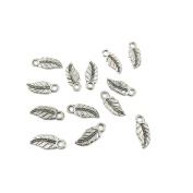 180 Pieces Antique Silver Jewellery Making Charms Supplies Charme Making Findings Craft Silver TNZ06 Leaf