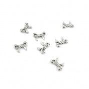 1080 Pieces Antique Silver Jewellery Making Charms Fermoir Collier Antique ancient Accessoires A0186 Bow Tie Bowtie