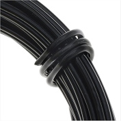 Artistic Wire Aluminium Craft Wire, 12 Gauge Thick, 12 Metre Spool, Anodized Black Finish