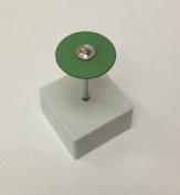 Edenta Green Diamond Coarse Polish Round Knife Edge Wheel 25 x 2mm
