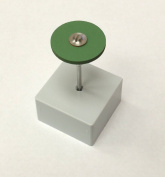 Edenta Green Diamond Coarse Polish Round Flat Edge Wheel 25 x 2mm