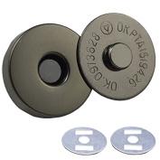 "Bluemoona 50 Sets - Magnetic Purse Love Snap 3/4"" 18mm Clasps Closure Purse Handbag with Washer GunBlack"
