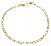k-craft BG18 125cm Purse Metal Chain Strap Replacement Gold Crossbody Shoulder Strap Handbag
