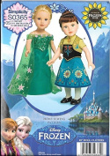 Simplicity S0365 Anna Elsa Frozen Fever Doll Dress Pattern 46cm Doll