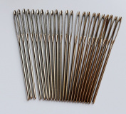 CHENGYIDA 30- PACK (6cm ) BLUNT LARGE EYE STITCHING NEEDLES,Leather Sewing Needle