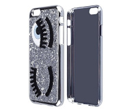 iPhone 5 Case,iPhone 5S Case,Inspirationc® Eyelash Bling Bling Hard Case Cover for Apple iPhone 5/5S--Silver