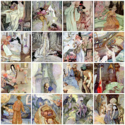 Anne Anderson Vintage Fairy Tale Tiles Collage Sheet 101