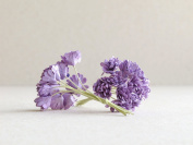 10mm Purple Paper Gypsophila - 20pcs - Mulberry Paper Flowers with Wire Stems - Great for Miniature Flower Arrangement