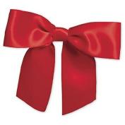 EGP Red Pre-Tied Satin 2.2cm Ribbon x 7.6cm Bow Width
