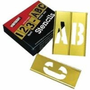 5.1cm 45Pc Letter & Numberstencil Set Brass, Sold As 1 Set