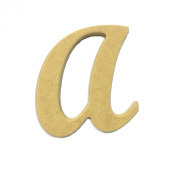 60cm Wood Script Cursive Capital Letter A Unfinished DIY Craft Cutout to Sell Ready to Paint Wooden Stacked