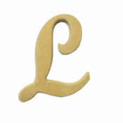 15cm Wood Script Cursive Capital Letter L Unfinished DIY Craft Cutout to Sell Ready to Paint Wooden Stacked
