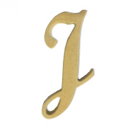 15cm Wood Script Cursive Capital Letter I Unfinished DIY Craft Cutout to Sell Ready to Paint Wooden Stacked
