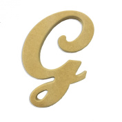 15cm Wood Script Cursive Capital Letter G Unfinished DIY Craft Cutout to Sell Ready to Paint Wooden Stacked