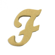 15cm Wood Script Cursive Capital Letter F Unfinished DIY Craft Cutout to Sell Ready to Paint Wooden Stacked
